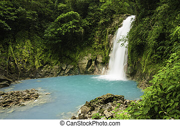 Waterfall-Rio Celested - Small waterfall on the Rio Celeste...