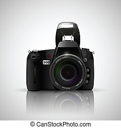 Camera - illustration of camera on white background