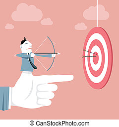 Success and Target - Vector illustration - Target Success...