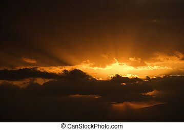 Sunrise in Maui - Sunrise in Haleakala National Park in...