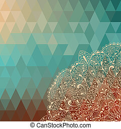 Vector highly detailed floral pattern - vector hoghly...