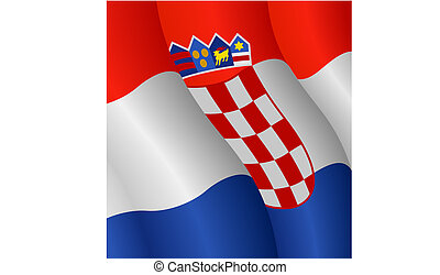 Flag of Croatia - Vector illustration of the Flag of Croatia