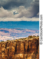 Long Canyon Utah - Dramatic sky over Long Canyon Utah -...