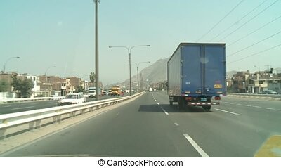 Driving In Lima, Peru - video footage of POV driving in...