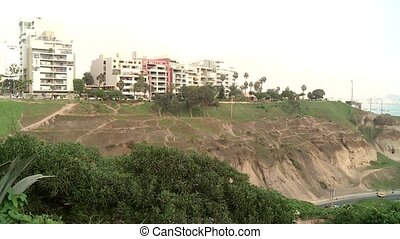 Coastline, Lima, Peru - coastline of Lima between Barranco...