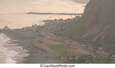 Beach and Coastline, Lima, Peru - coastline of Lima...