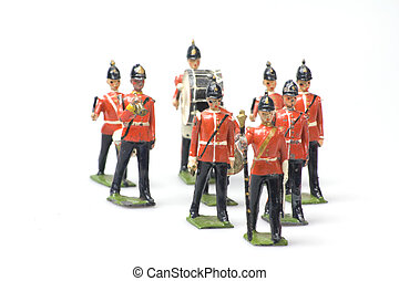 toy soldiers band - vintage toy soldiers band made from lead...