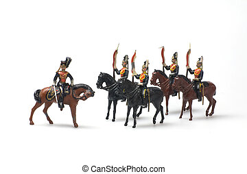 irish lancers - vintage lead toy soldiers irish lancers over...