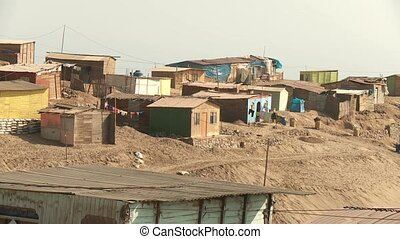 Slums, Lima, Peru - slums in the desert at the north of...