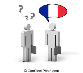 Business French Language Concept - Business French concept...