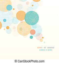 Fabric circles abstract diagonal pattern background - Vector...