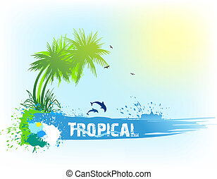Tropical abstract background. Vector
