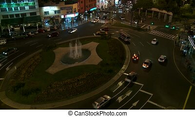 roundabout traffic, Lima, Peru - roundabout traffic in Lima,...