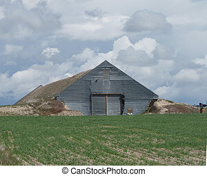 Sod Barn on Idaho Prairie