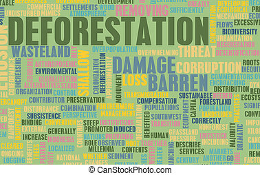 Deforestation Forest Loss Damage Concept as Art