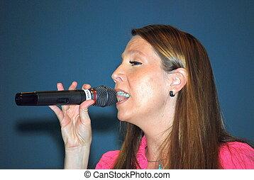 Female singer.