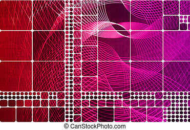 Square Creative Background with Copyspace for Art