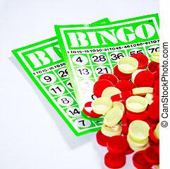 Bingo, Jogo, chance, jogado, randomly, desenhado,...