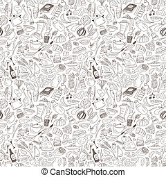 natural food seamless pattern - natural food -seamless...