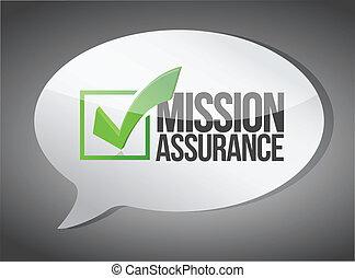 Mission assurance message bubble communication