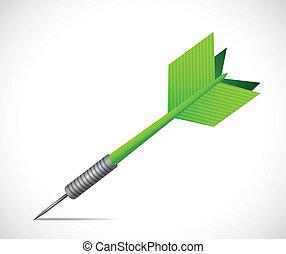 Green dart illustration design