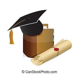 education knowledge graduation illustration