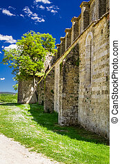 Ruins of the ancient Church in Tuscany