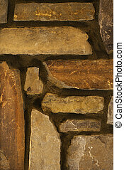 Detail of stone wall.
