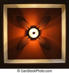 Ceiling fan.