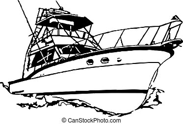 Sport Fishing Boat - Name brand older sport fishing boat...