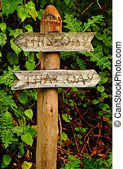 Garden Sign-This Way, That Way