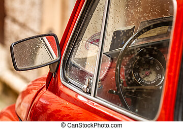 vendimia, Italia, rojo, coche