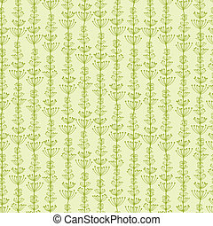 Underwater Plants Stripes Seamless Pattern Background -...