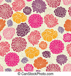 Colorful abstract flowers seamless pattern background -...