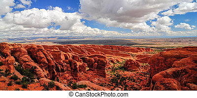 Dramatic Landscape of Arches National Park