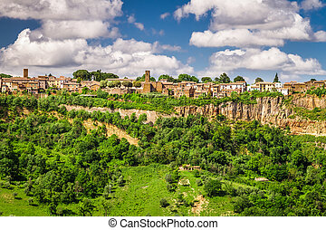 City over a cliff in Tuscany, Bagnoregio