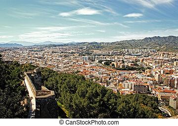 edifícios,  Malaga, vista