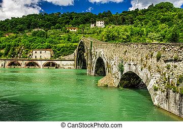 Devils Bridge Lucca, Italy