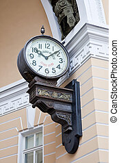 Exact time - Ancient clock showing exact time on the street...