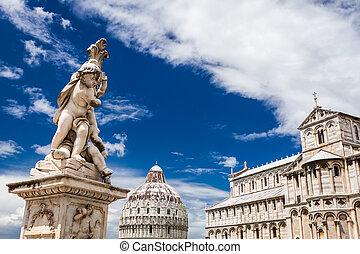 Campo dei Miracoli in Pisa summer