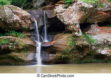 Upper Falls - Old Mans Cave - The Upper Falls at Old Mans...