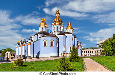 Saint Michael's Cathedral in Kiev, Ukraine - Famous church...