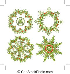 Set of christmas wreaths for your design