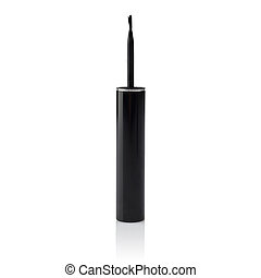 Liquid eyeliner brush - Liquid eyelinder brush over white
