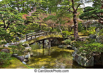Kyoto Imperial Palace - Beautiful Japanese garden in the...