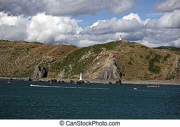 New Zealand - North Island, Pencarrow Lighthouse and Fitzroy...