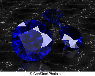 blue sapphire high resolution 3D image