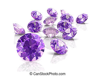 amethyst high resolution 3D image