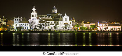 El Rocio - Night View of El Rocio, Andalucia, Spain