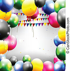 birthday background with balloon